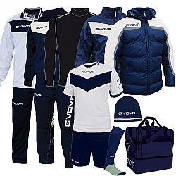 BOX SPECIAL biela-modrá - XXL