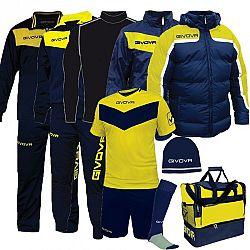 BOX SPECIAL modrá-žltá - XXL