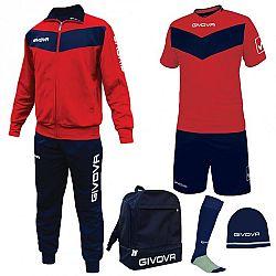 BOX SPORT červená-modrá - S