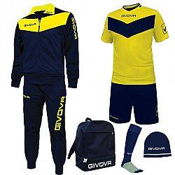 BOX SPORT modrá-žltá - L