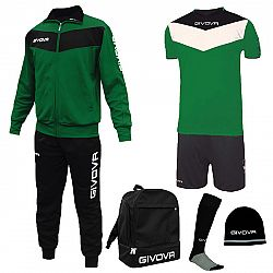 BOX SPORT zelená-čierna - S