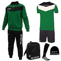 BOX SPORT zelená-čierna - XL