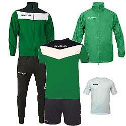 BOX SPRING zelená-čierna - XL