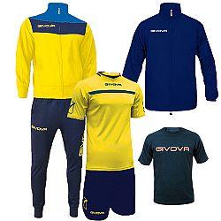 BOX SPRING žltá-modrá - S