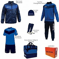 BOX VITTORIA azúrová-modrá - M