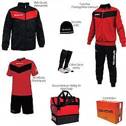 BOX VITTORIA červená-čierna - L