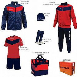 BOX VITTORIA červená-modrá - XL