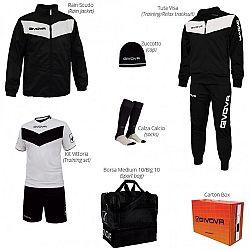 BOX VITTORIA čierna-biela - XL