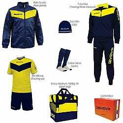 BOX VITTORIA modrá-žltá - L