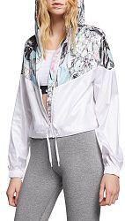 Bunda s kapucňou Nike W NSW HYP FM JKT CROP WR AOP ar5151-100 Veľkosť L