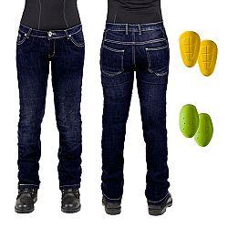 Dámske moto jeansy W-TEC C-2011 modré