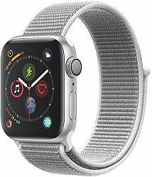 Hodinky Apple Apple Watch Series 4 GPS, 40mm Silver Aluminium Case with Seashell Sport Loop mu652hc-a