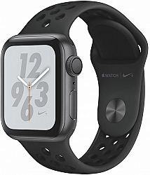 Hodinky Apple Apple Watch + Series 4 GPS, 40mm Space Grey Aluminium Case with Anthracite/Black Sport Band mu6j2hc-a