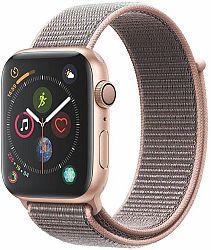 Hodinky Apple Apple Watch Series 4 GPS, 44mm Gold Aluminium Case with Pink Sand Sport Loop mu6g2hc-a