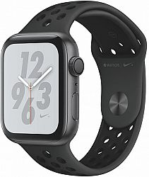 Hodinky Apple Apple Watch + Series 4 GPS, 44mm Space Grey Aluminium Case with Anthracite/Black Sport Band mu6l2hc-a