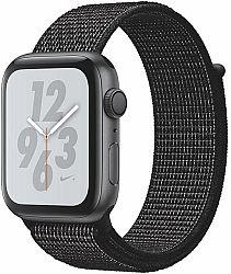 Hodinky Apple Apple Watch + Series 4 GPS, 44mm Space Grey Aluminium Case with Black Sport Loop mu7j2hc-a