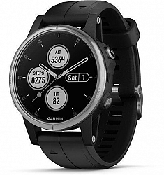 Hodinky Garmin Garmin fenix5S Plus Silver, Black Band 010-01987-21