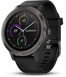 Hodinky Garmin GARMIN vivoActive3 Optic Grey PVD, Black band 010-01769-12