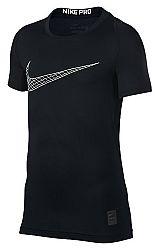 Kompresné tričko Nike B NP TOP SS COMP 858233-011 Veľkosť XS