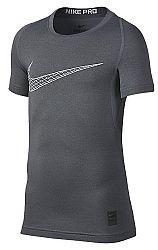 Kompresné tričko Nike B NP TOP SS COMP 858233-065 Veľkosť XS