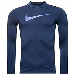Kompresné tričko Nike B NP WM TOP LS MOCK ah0316-429 Veľkosť S