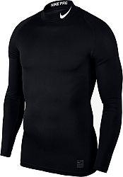 Kompresné tričko Nike M NP TOP LS COMP MOCK 838079-010 Veľkosť XL