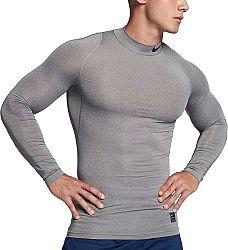 Kompresné tričko Nike M NP TOP LS COMP MOCK 838079-091 Veľkosť XL