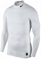 Kompresné tričko Nike M NP TOP LS COMP MOCK 838079-100 Veľkosť XL