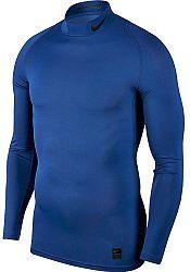 Kompresné tričko Nike M NP TOP LS COMP MOCK 838079-480 Veľkosť XL