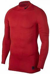 Kompresné tričko Nike M NP TOP LS COMP MOCK 838079-657 Veľkosť XL