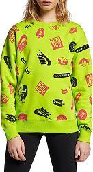 Mikina Nike W NSW CREW AOP AIRMAX av8340-389 Veľkosť XS