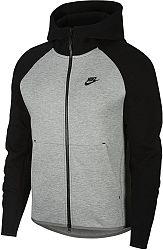 Mikina s kapucňou Nike M NSW TCH FLC HOODIE FZ 928483-064 Veľkosť XL