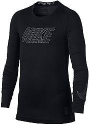 Tričko s dlhým rukávom Nike B NP TOP LS COMP 858232-010 Veľkosť XS