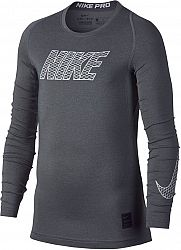 Tričko s dlhým rukávom Nike B NP TOP LS COMP 858232-065 Veľkosť XS