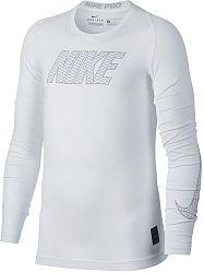 Tričko s dlhým rukávom Nike B NP TOP LS COMP 858232-100 Veľkosť S