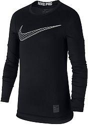 Tričko s dlhým rukávom Nike B NP TOP LS COMP HO18 2 bq2186-010 Veľkosť M