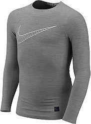 Tričko s dlhým rukávom Nike B NP TOP LS COMP HO18 2 bq2186-091 Veľkosť XL