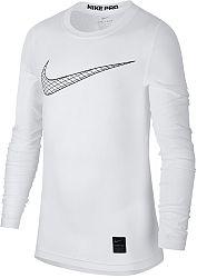 Tričko s dlhým rukávom Nike B NP TOP LS COMP HO18 2 bq2186-100 Veľkosť XL