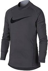 Tričko s dlhým rukávom Nike B NP WM TOP LS MOCK GFX ah3997-021 Veľkosť S