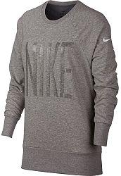Tričko s dlhým rukávom Nike W NK DRY TOP CREW GRX HO 929684-063 Veľkosť S
