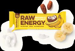 Tyčinka Bombus BOMBUS RAW ENERGY Banana&Coconut 50g 11-07