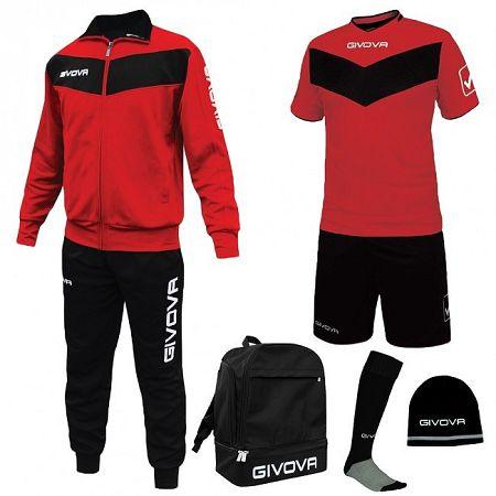 BOX SPORT červená-čierna - XL