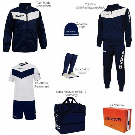 BOX VITTORIA modrá-biela - XL