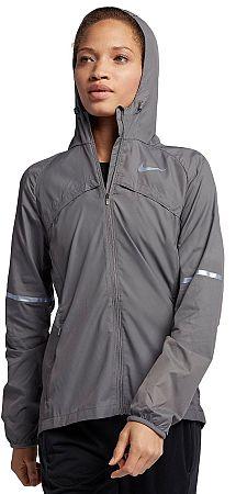 Bunda s kapucňou Nike W NK SHLD JKT HD 855643-036 Veľkosť XS