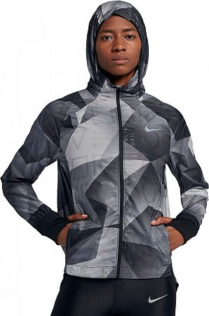 Bunda s kapucňou Nike W NK SHLD JKT HD PR FL 929119-010 Veľkosť XS