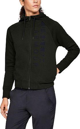 Bunda s kapucňou Under Armour Cotton Fleece WM FZ 1321186-357 Veľkosť L