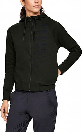 Bunda s kapucňou Under Armour Cotton Fleece WM FZ 1321186-357 Veľkosť XS