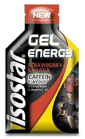 Gél Isostar GEL CAFFEIN STRAWBERRY BANANA 35g n143