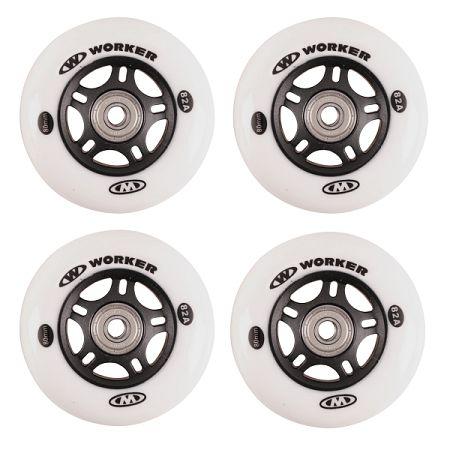 In-line kolieska WORKER 80mm a ložiská ABEC-7 chrome - Set 4 ks