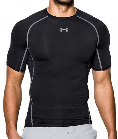 Kompresné tričko Under Armour HG SS 1257468-001 Veľkosť M